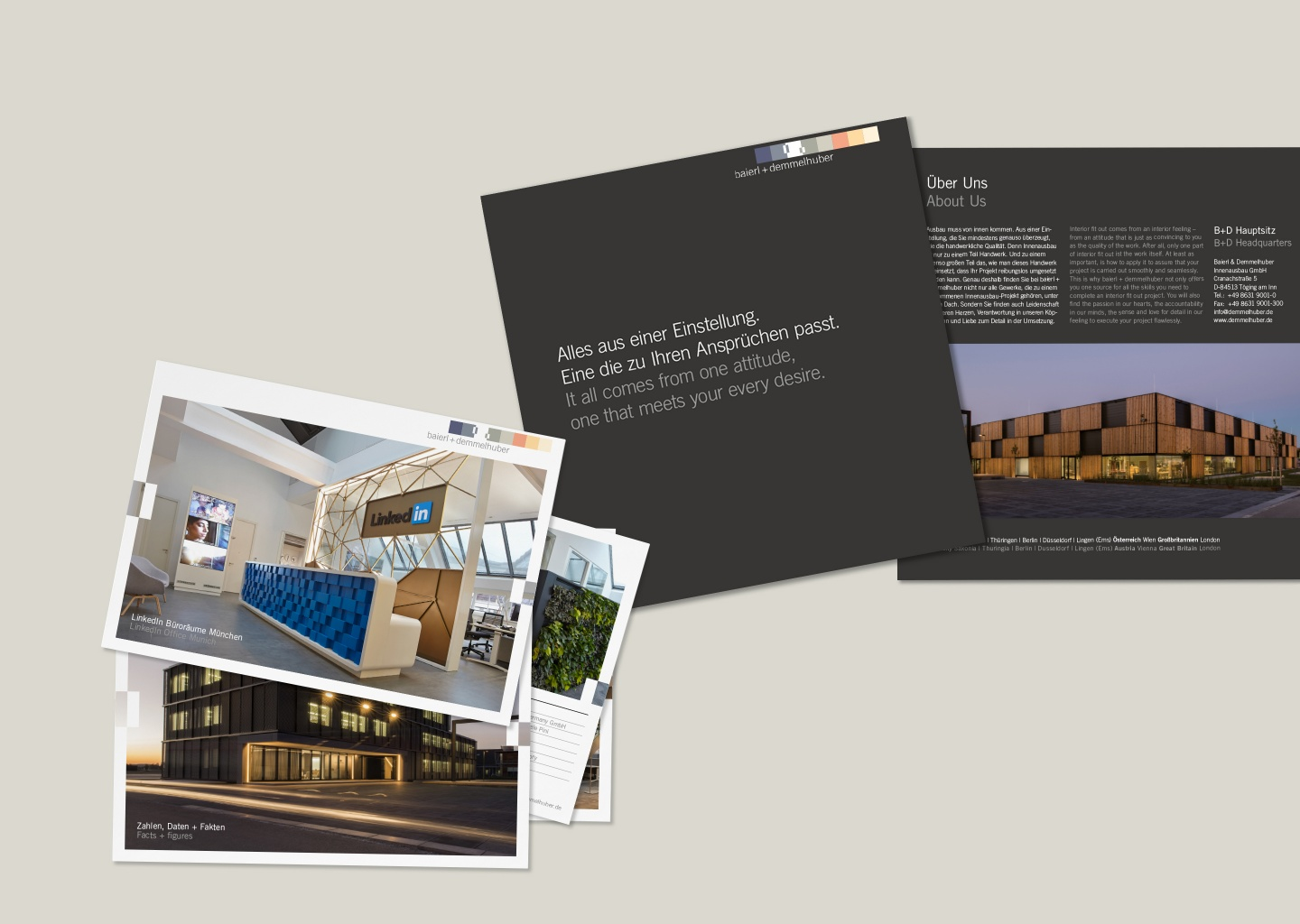 Print project for baierl + demmelhuber - by Corporate Creation