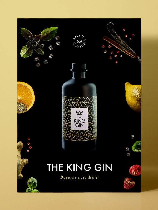 the King Gin - Poster - by Corporate Creation