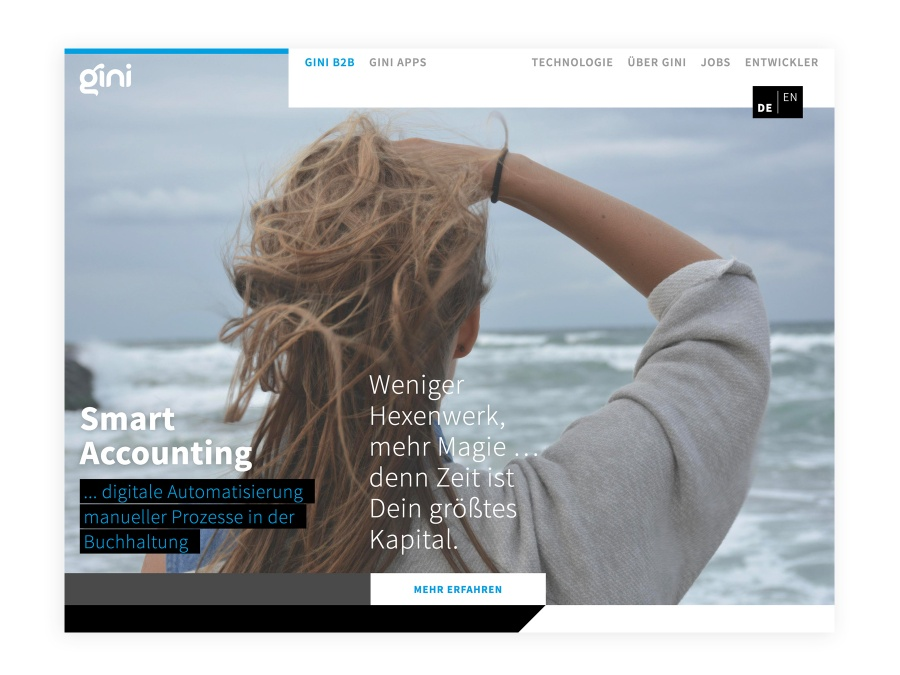 Webdesign – gini by Corporate Creation