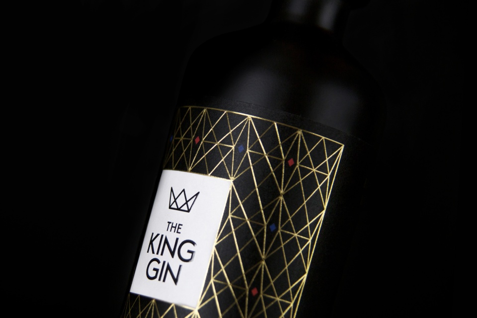 Packaging Design for the King Gin - by Corporate Creation