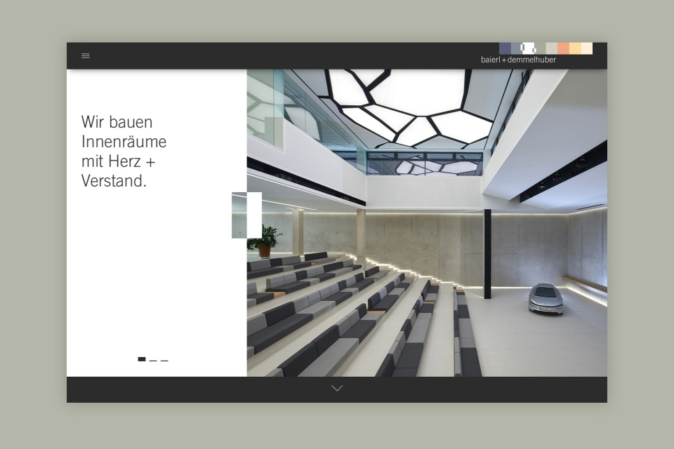 Web concept for baierl + demmelhuber - by Corporate Creation